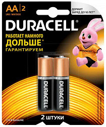 Дюрасел (duracell) батарейка 1500 lr-6 aa 2 шт. большие