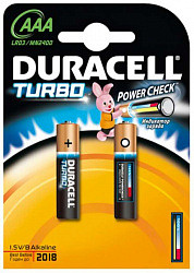 Дюрасел (duracell) батарейка 1500 lr-03 aaа 2 шт.