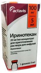 Иринотекан 20мг/мл 5мл 1 шт. концентрат для приготовления раствора для инфузий