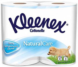 Клинекс натурал кеа бумага туалетная 3-х слойная 4 шт.