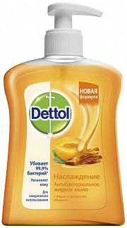 Деттол мыло жидкое для рук наслаждение мед/абрикос 250мл