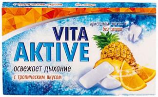 Вита актив резинка жевательная без сахара тропические фрукты 16г