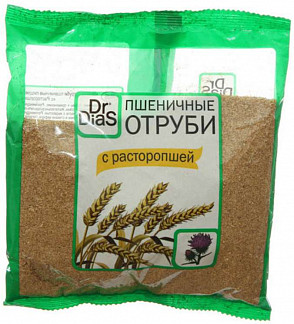 Доктор диас отруби пшеничные расторопша 200г
