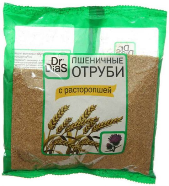 Доктор диас отруби пшеничные расторопша 200г, фото №1