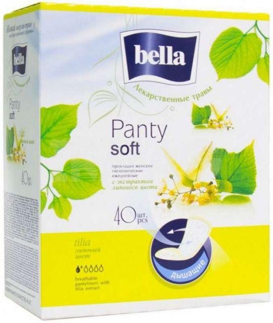 Белла панти софт прокладки ежедневные липа 40 шт., фото №1