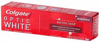 Колгейт оптик вайт зубная паста экстра сила 75мл