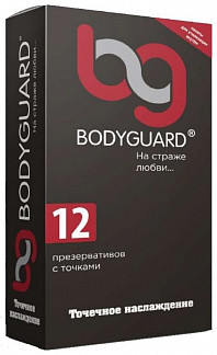 Бодигард презервативы с точками 12 шт. кит