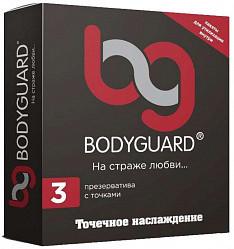 Бодигард презервативы с точками 3 шт. кит