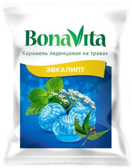 Бона вита карамель леденцовая эвкалипт/витамин с 60г, фото №1