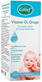 Колиф капли витамин д3 20мл