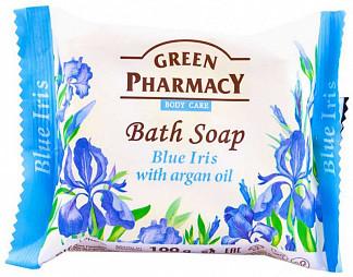 Грин фармаси мыло туалетное голубой ирис с аргановым маслом 100г