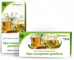 При сахарном диабете лекра чайный напиток 1,5г 20 шт. фильтр-пакет