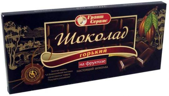 Шоколад грант сервис горький на фруктозе 100г, фото №1