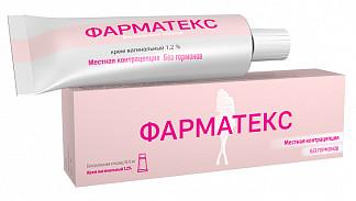 Фарматекс 1,2% 72г крем вагинальный