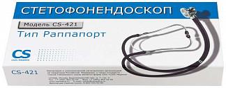 Сиэс медика стетофонедоскоп cs-421 черный
