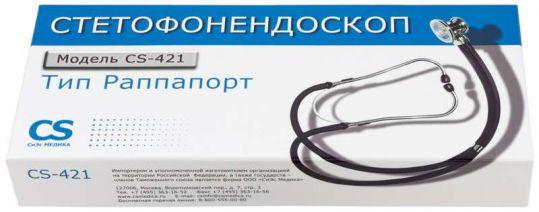 Сиэс медика стетофонедоскоп cs-421 черный, фото №1