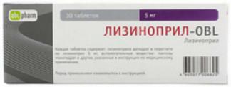 Лизиноприл-obl 5мг 30 шт. таблетки