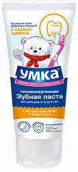 Умка зубная паста экстракт липы и овса 0-3 лет 65г