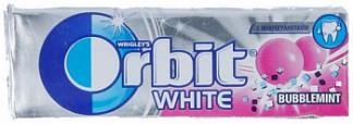 Орбит жевательные резинки белоснежный баблминт 13,6г