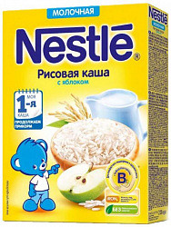 Нестле каша молочная рисовая яблоко/бифидобактерии 220г