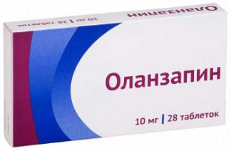 Оланзапин 10мг 28 шт. таблетки покрытые пленочной оболочкой