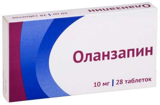 Оланзапин 10мг 28 шт. таблетки покрытые пленочной оболочкой, фото №1