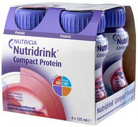 Нутридринк компакт протеин смесь охлаждающий вкус фруктово-ягодный 125мл 4 шт.