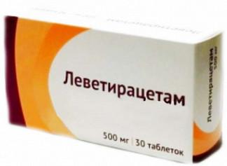 Леветирацетам 500мг 30 шт. таблетки покрытые пленочной оболочкой