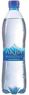 Аква минерале вода питьевая газированная 0,6л