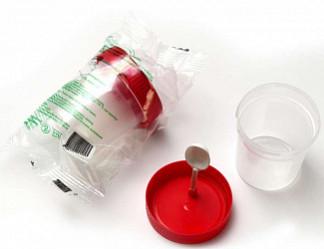 Контейнер для биопроб нестерильный с лопаткой 60мл в инд. упаковка
