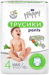 Белла беби хеппи пантс подгузники-трусы макси 8-14кг 12 шт.