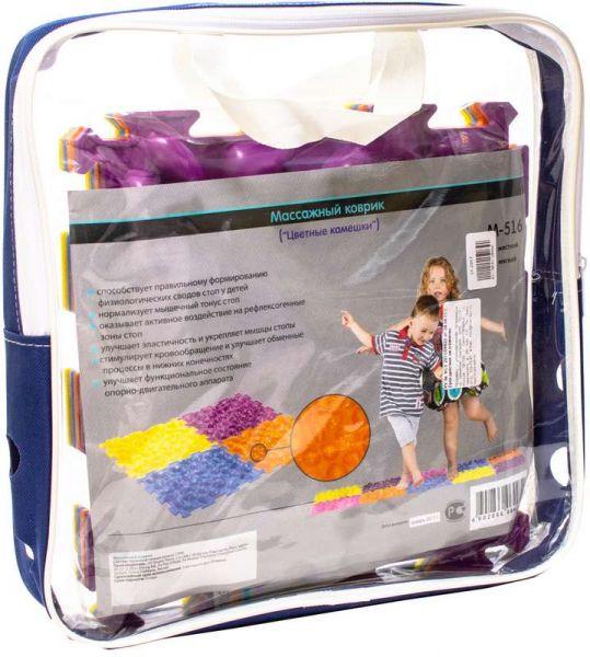 Тривес коврик массажный цветные камешки м-516 мягкий, фото №1