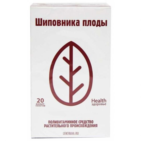 Шиповник плоды 1,5г 20 шт. фильтр-пакет здоровье, фото №1