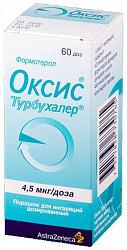 Оксис турбухалер 4,5мкг/доза 60доз порошок для ингаляций дозированный