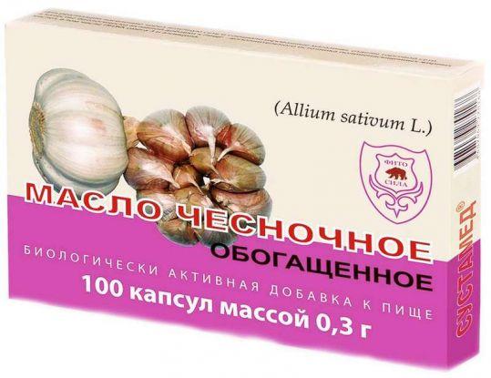 Сустамед масло чесночное обогащенное капсулы 100 шт., фото №1