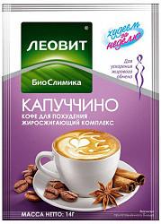 Леовит биослимика капуччино кофе для похудения жиросжигающий комплекс 14г