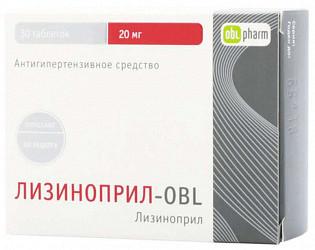 Лизиноприл-obl 20мг 30 шт. таблетки