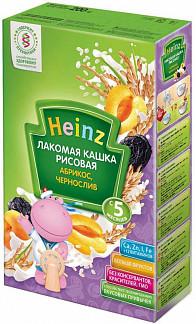 Хайнц каша лакомка рисовая абрикос/чернослив 5+ 200г