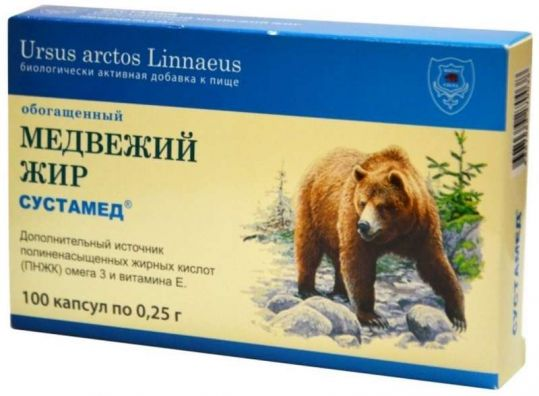 Сустамед медвежий жир 100мл, фото №1