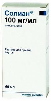 Солиан 100мг/мл 60мл раствор для внутреннего применения