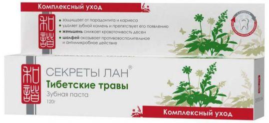 Секреты лан зубная паста тибетские травы.комплексный уход 120г, фото №1