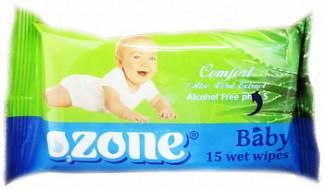 Озон салфетки влажные детские алоэ 15 шт.