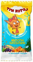 Три кота батончик-мюсли абрикос/злаки в молочной глазури 40г