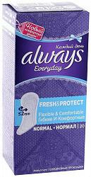 Олвейз прокладки ежедневные нормал фреш энд протэкт ароматизированные 20 шт.