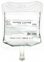 Натрия хлорид 0,9% 250мл раствор для инфузий