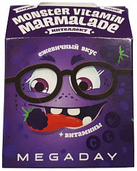 Мегадэй мармелад жевательный с витаминами ежевика 20г