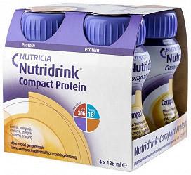Нутридринк компакт протеин смесь согревающий вкус имбирь/тропические фрукты 125мл 4 шт.