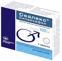 Сеалекс силденафил 100мг 1 шт. таблетки покрытые пленочной оболочкой
