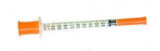 Сфм шприц инсулиновый трехкомпонентный u100 1мл с иглой 29g 0,33х12,7мм 1 шт.