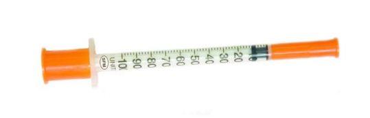Сфм шприц инсулиновый трехкомпонентный u100 1мл с иглой 29g 0,33х12,7мм 1 шт., фото №1